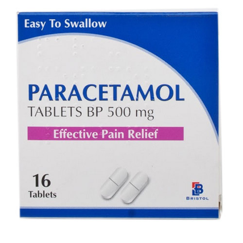 Paracetamol Tablet BP 500 Mg, Effective Pain Relief- 16 Tablets (Easy To Shallow)