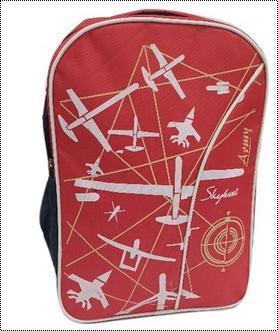 Red Printed Laptop Bag
