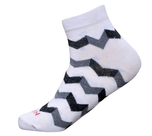 White Color Men Ankle Socks