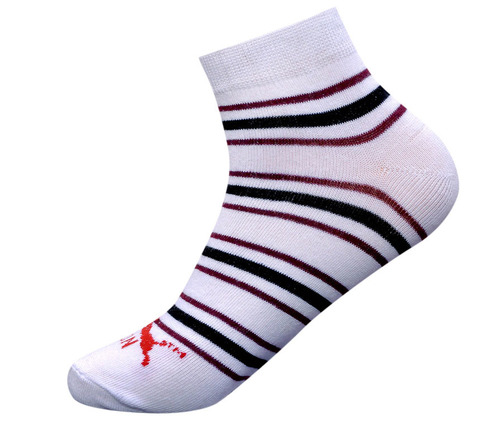 White Mens Ankle Casual Socks
