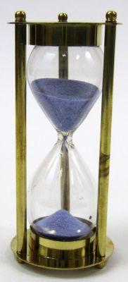 Brass 3-min. Hourglass Purple Sand Timer
