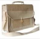 Fancy Jute Laptop Bag Size 18x16x5 Inch