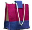Fancy Jute Shopping Bag Size 12x14x6 Inch