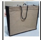 Natural Color Shopping Jute Bag Size 16x14x6 Inch