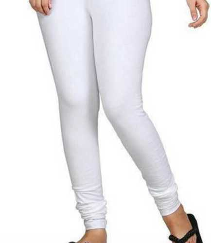 White Color Plain Skin Friendly Ladies Leggings