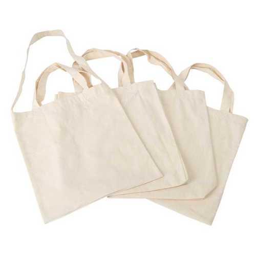 White Plain Cloth Carry Bag