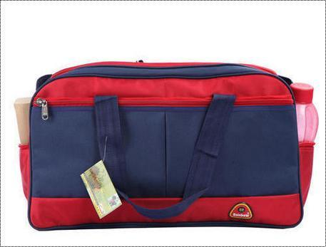 Blue Canvas And Polyester Luggage Bags