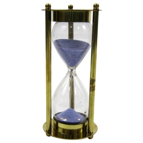 Brass MARY ROSE 3-min Hourglass