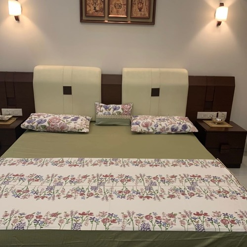Home Printed Linen Bed Sheet