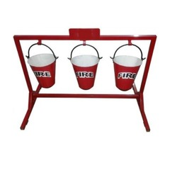 Painted Fire Buckets Stand
