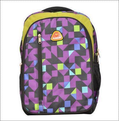 Printed Polyester And Nylon School Bag