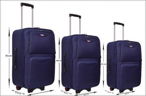 Rainbow Tourist Navy Luggage Trolley Bag