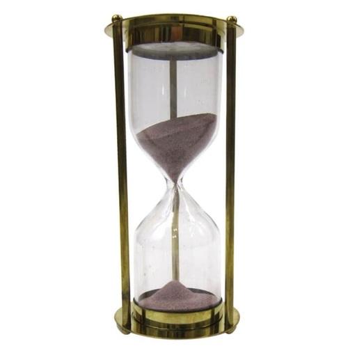 Brass 5-minute Hourglass Purple Sand Timer