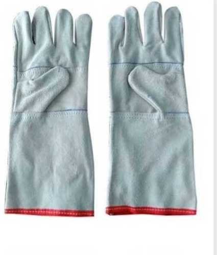 Industrial Leather Hand Gloves, Size: Free Size