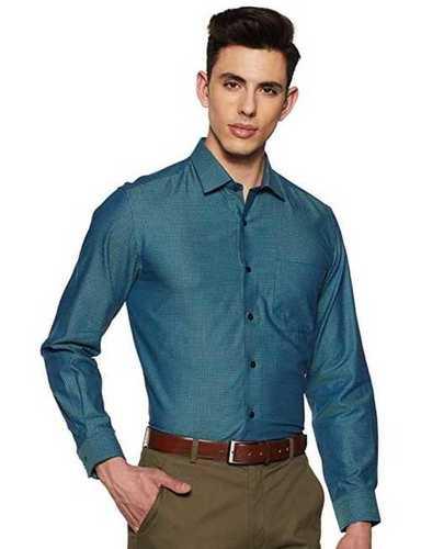 Mens Pure Cotton Plain Shirt, Fit: Regular Fit