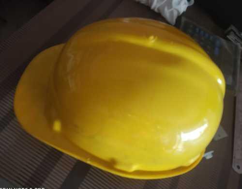 Plastic Safety Yellow Helmet, Weight: 350-360 g