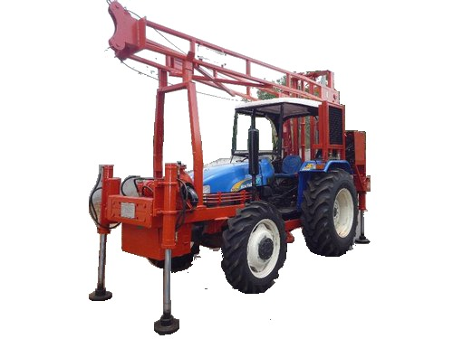 Tractor Mounted Core Cum DTH Drilling Rig