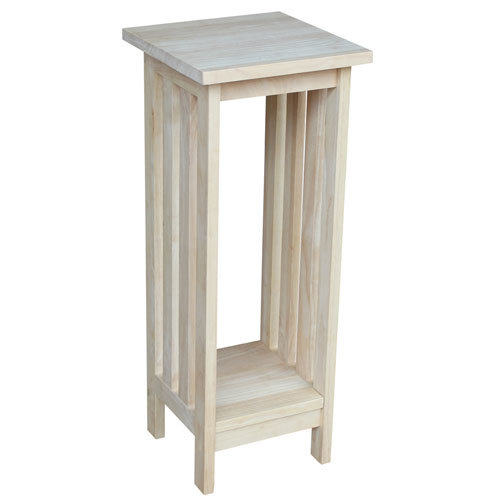 White Square Wood Plant Stand