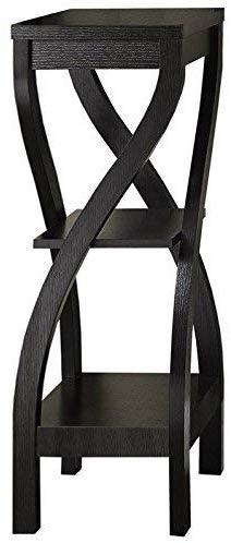 Wood Plant Stand Black