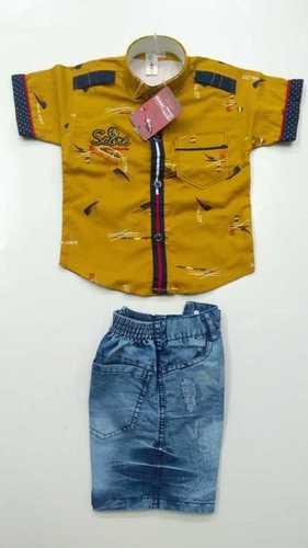 Boys Cotton Half Sleeve Shirt