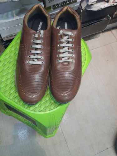 Brown Leather Formal Laces Shoes