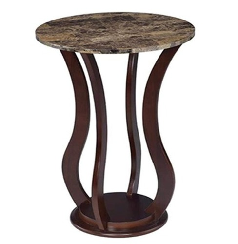 Cherry Round Marble Top Plant Stand