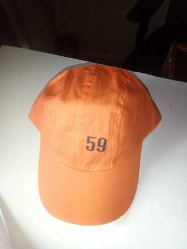 Cotton Casual Orange Cap