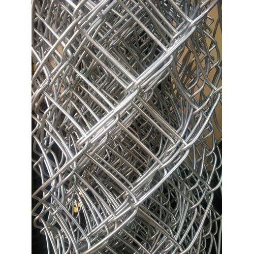 Galvanized Silver Ms Chain Link Wire Mesh