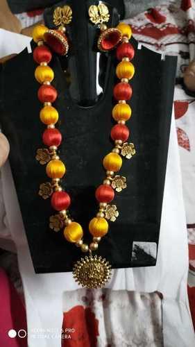 Handmade Multicolour Silk Thread Necklace