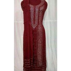 Ladies Brown Pakistani Cotton Suits
