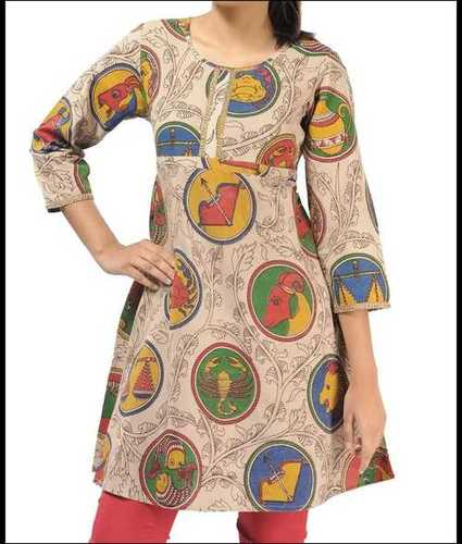 Ladies Short Length Cotton Printed Kurti