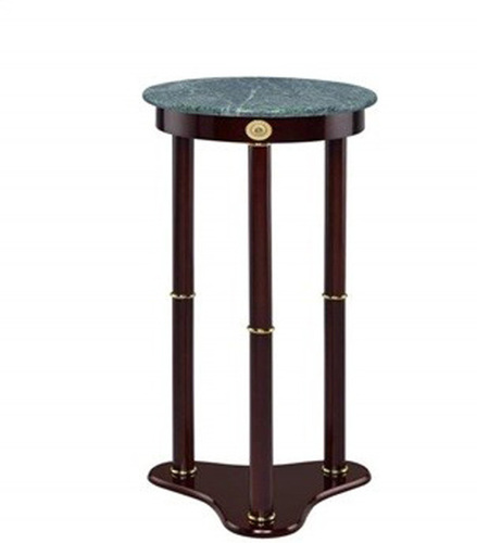 Marble Top Round Plant Stand