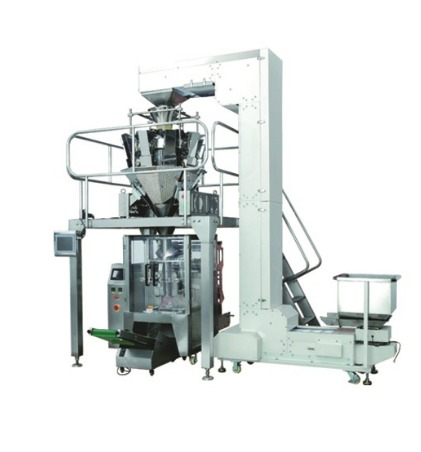 Multi Head Weigher Vertical Packing Machine for Snacks/Granules/Tea/Dry Fruits