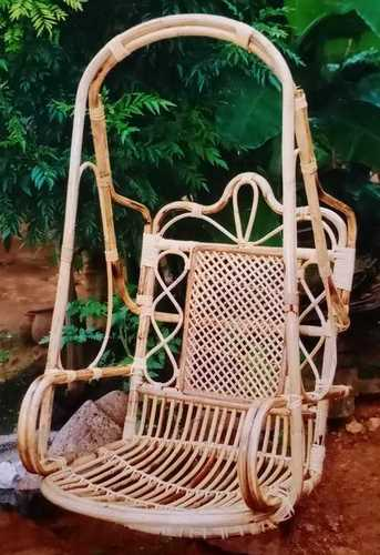 Polished Cane Swing Chairs