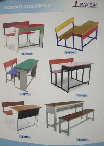 Pure Wooden School Desk, Seating Capacity: 2 Seater