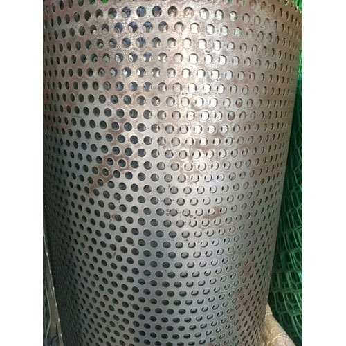 Round Mild Steel Industrial Perforated Sheet