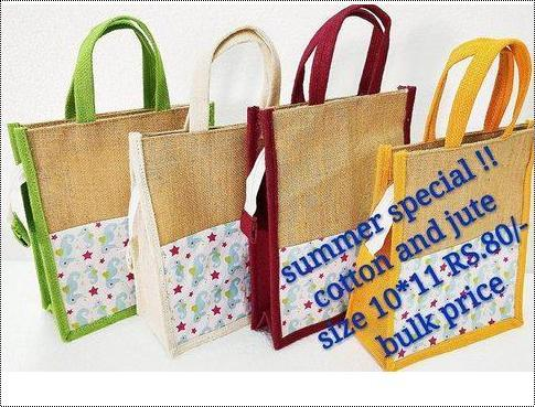 Cotton And Jute Bag