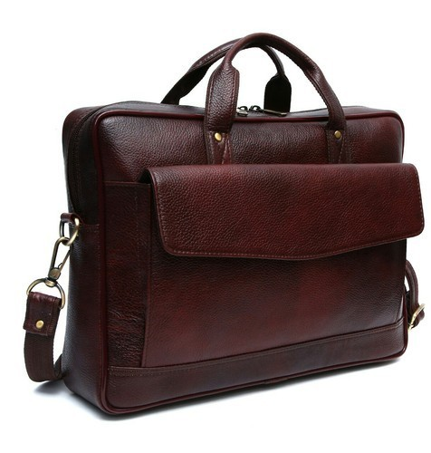 Genuine Leather Brown Laptop Bag