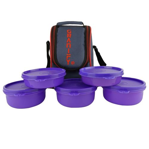 Granify Lunch Box 5 Plastic Containers