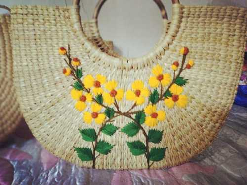Handcrafted Embroidered Water Reed Handbags