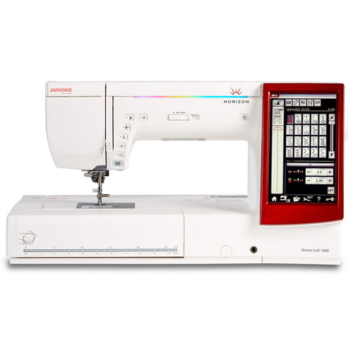 Janome Horizon Memory Craft 14000 Sewing, Embroidery And Quilting Machine