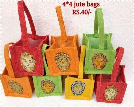 Jute Thamboolam Handled Bag