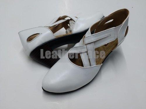 Ladies White Designer Sandals