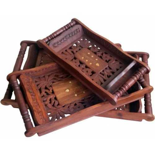 Rectangular Shape Wooden Trays