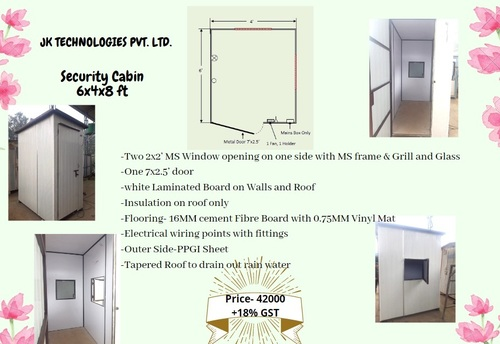 Security Cabin 6x4x8 ft
