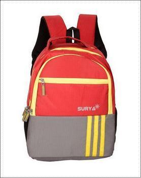 Zipper Closure School Bag