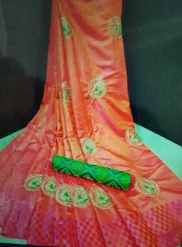 Anti Wrinkle Festival Wear Silk Sarees
