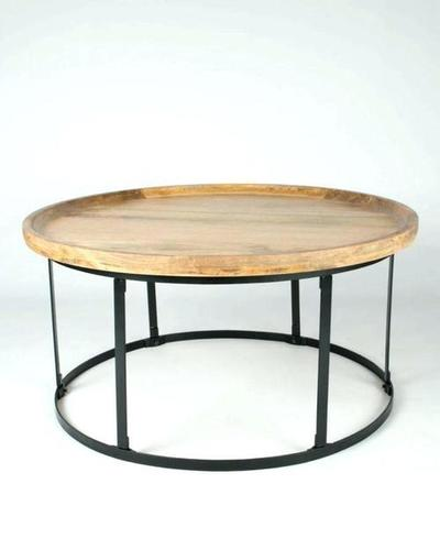 Classic Solid Wood Top Coffee Table