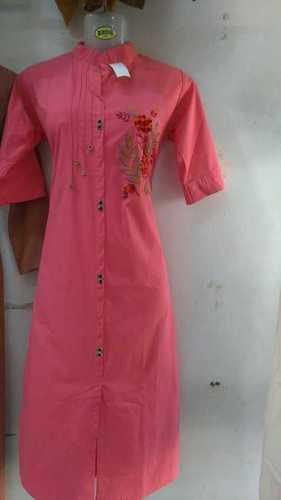 Ladies Pure Cotton Collar Kurtis