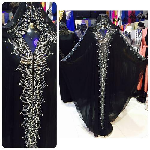 Latest Dubai Black Designer Kaftan